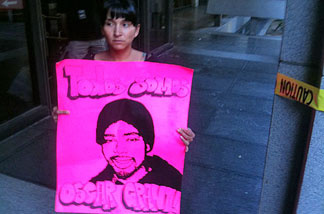 Carol Gomez of the L.A. Coalition for Justice for Oscar Grant