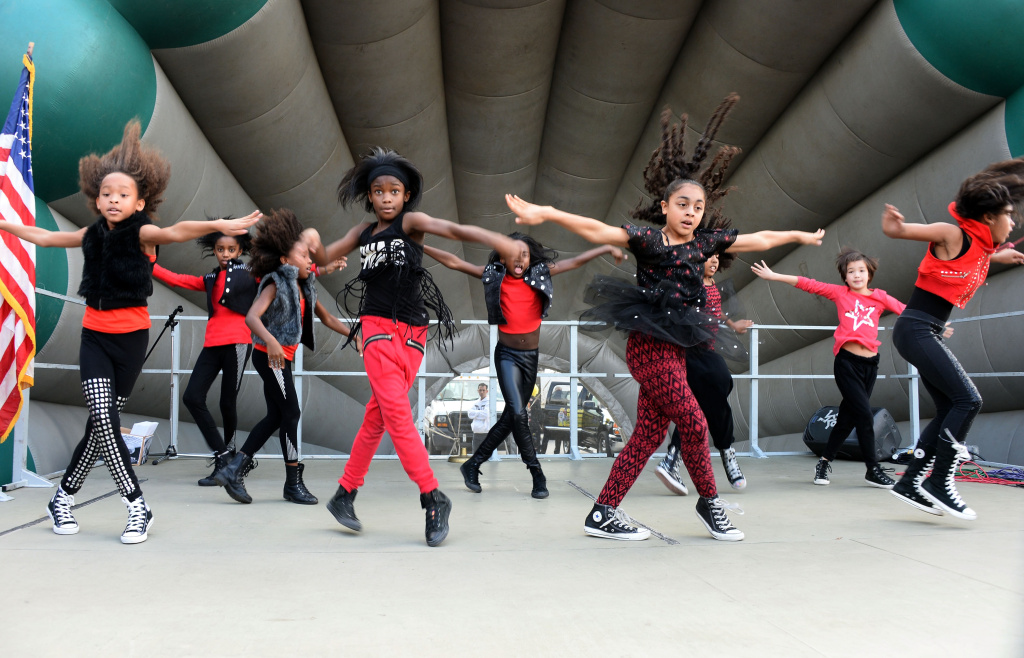 Debbie Allen Dance Academy dancers perform at the BAFTA LA Inner City Christmas Party at Athens Park, on December 21, 2013 in Los Angeles, California.
