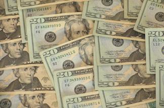 Crisp $20 U.S. bills.