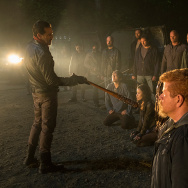 "A production still from ""The Walking Dead."""