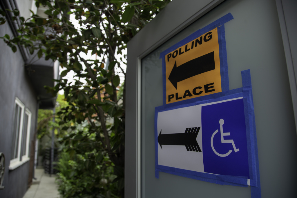 A polling Station in Beachwood Canyon, a Hollywood Hills neighborhood in Los Angeles on Tuesday, June 5, 2018.