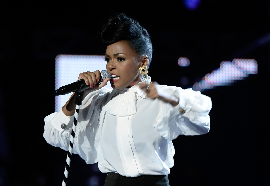 Singer Janelle Monae performs onstage during the 2013 BET Awards at Nokia Theatre L.A. Live on June 30, 2013 in Los Angeles, California.