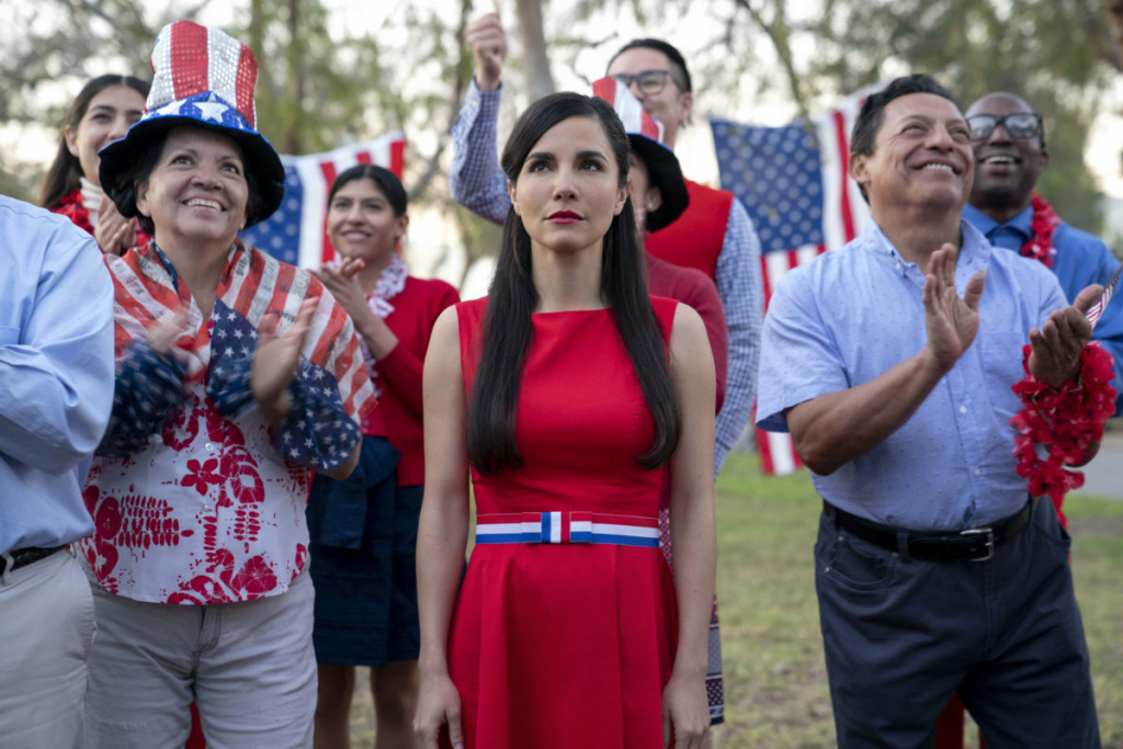 Martha Higareda stars as a Mexican woman who illegally crosses the border and finds herself in a perplexing U.S. town in Hulu's