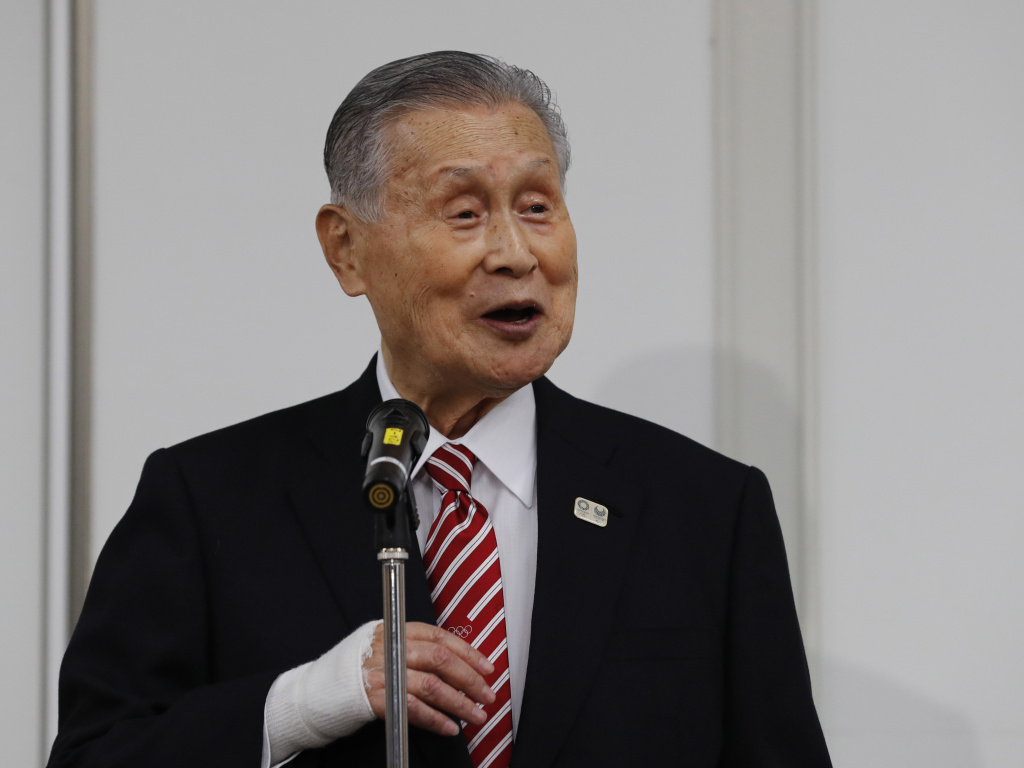 Japan's Olympic organizing committee president, Yoshiro Mori, speaks during a news conference in Tokyo on Feb. 4.
