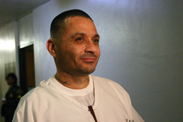 About 200 inmates at Men's Central Jail in downtown Los Angeles attend Christmas Day morning mass lead by Archbishop Jose Gomez of Los Angeles.