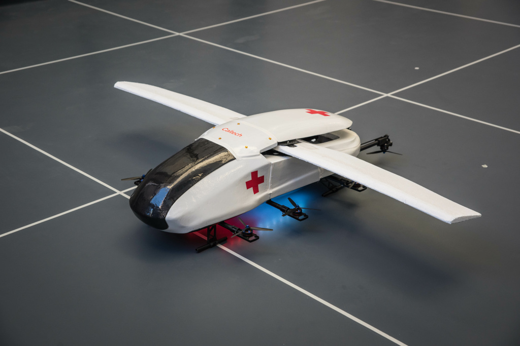 In its final form, this autonomous ambulance would be able to take off and land vertically and have a range of 15 miles, with a max speed of 150 miles per hour.