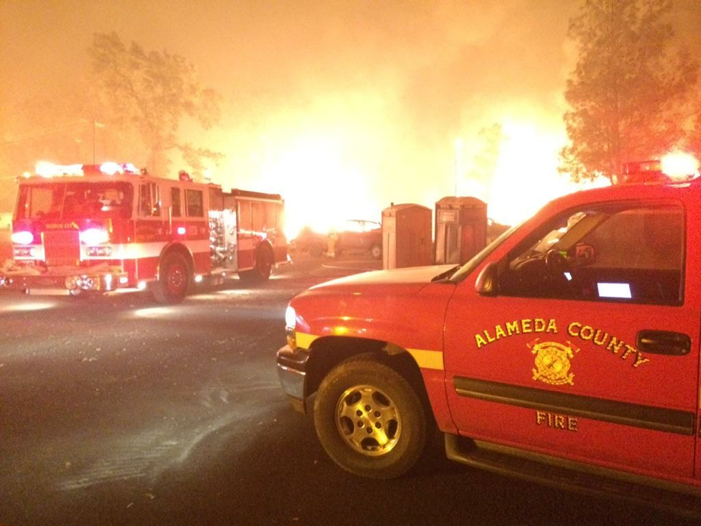 The Alameda Fire Department helps battle the Valley Fire.