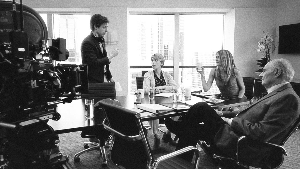 Writer/director Noah Baumbach on the set of