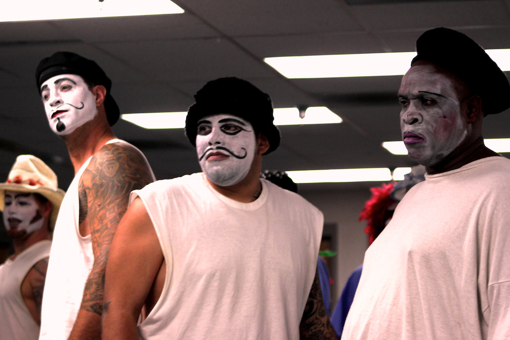 Inmates at the Norco state prison during the Actors' Gang workshop in 2010.