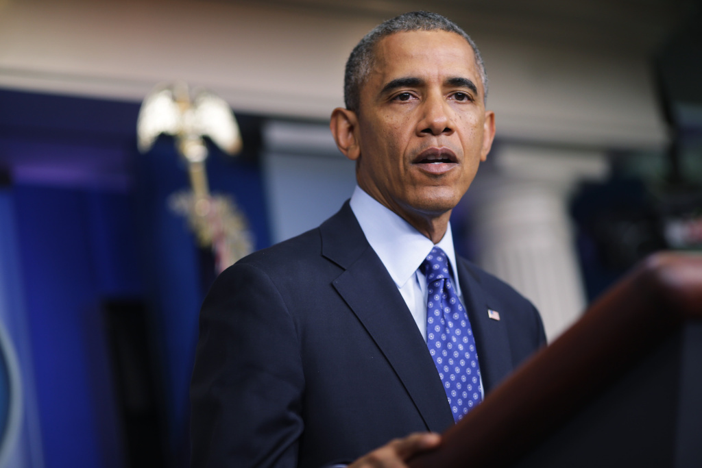 In this file photo, U.S. President Barack Obama speaks in the Brady Briefing room of the White House on June 19, 2014 in Washington, DC. The Supreme Court has ruled against the president over appointments he made to the National Labor Relations Board in 2012. The president had argued that the Senate was on an extended break when he invoked a constitutional provision allowing him to make recess appointments.