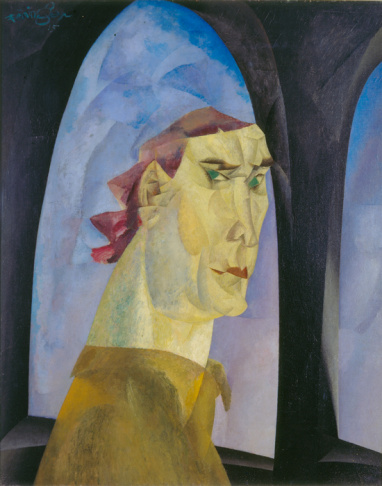 Lyonel Feininger, Self-Portrait, 1915. Sarah Campbell Blaffer Foundation, Houston BF.1979.15m © Lyonel Feininger Family, LLC./Artists Rights Society (ARS), New York.