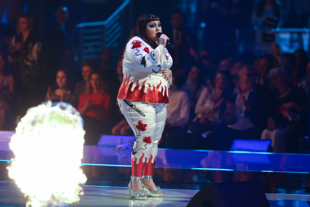 Beth Ditto attends the Germany's Next Topmodel Final at Koenig-Pilsener-ARENA on May 25, 2017 in Oberhausen, Germany.