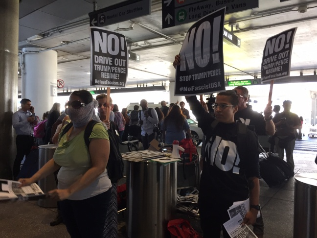 Slideshow: Day one of travel ban at LAX passes without