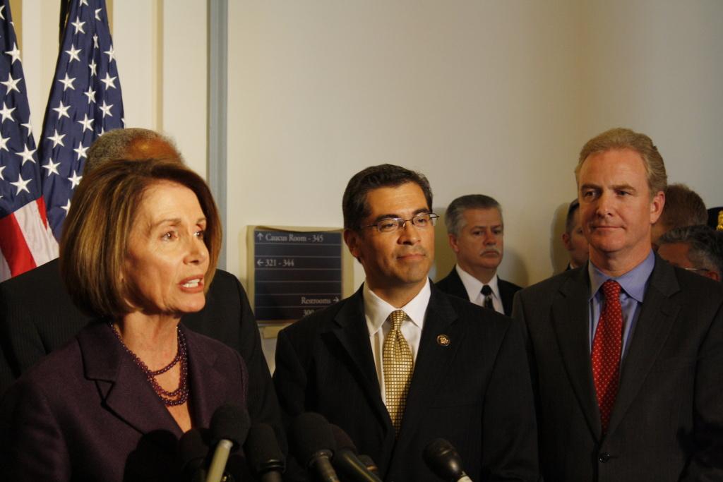 Democrats retain Californians Nancy Pelosi and Los Angeles Democrat Xavier Becerra.