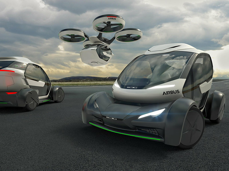 Airbus envisions a future of hybrid modular vehicles for road and sky.