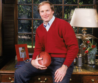 Former Los Angeles Rams quarterback, Pat Haden, poses for a portrait in February of 1986.