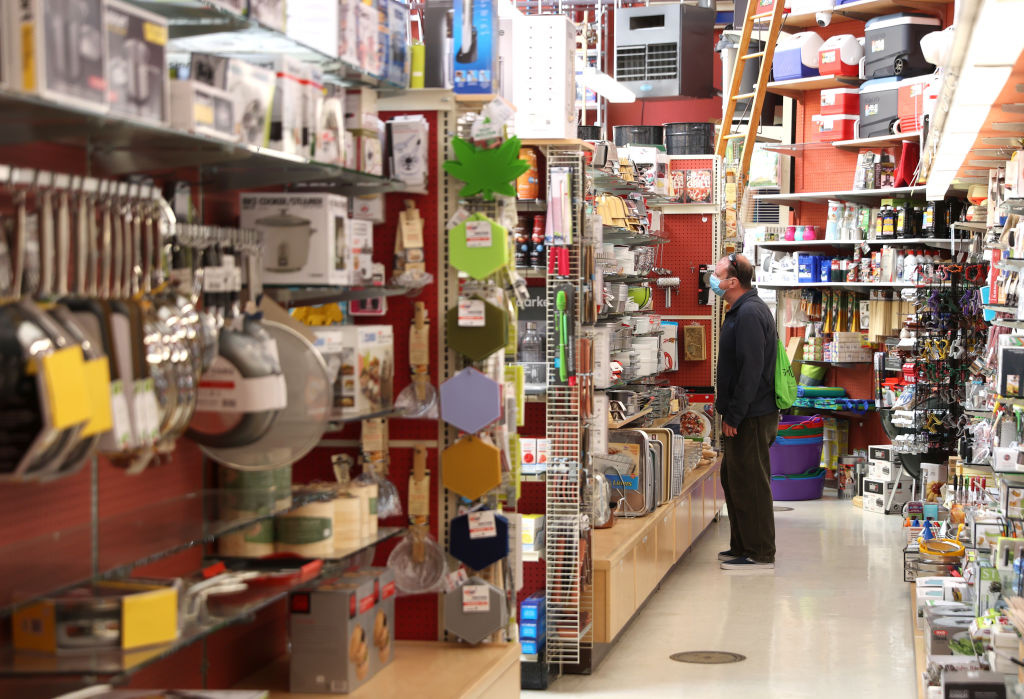 A customer shops at Cliff's Variety on June 16, 2020 in San Francisco, California.