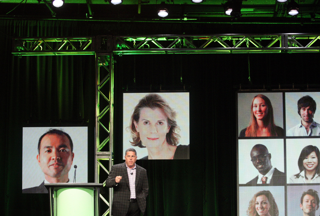 Andy Forssell, Hulu senior vice president of Content, speaks during the Hulu portion of the 2012 Summer TCA Press Tour at the Beverly Hilton Hotel on July 31, 2012 in Beverly Hills, California.