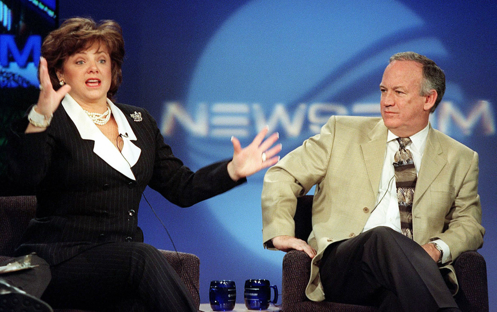 In this 12 October, 2000, file photo John (R) and Patsy Ramsey, whose daughter JonBenet was found murdered in their home nearly four years ago, answer questions from journalism students about their experience in the media spotlight at the Newseum in Rosslyn, Virginia. On Friday, Oct. 25, 2013, new documents were released showing a grand jury indicted the Ramseys for child abuse and being accessory to murder, but prosecutors said they felt there wasn't enough evidence to proceed.