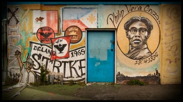 The forgotten history of the filipino laborers who worked for Cesar chavez mural