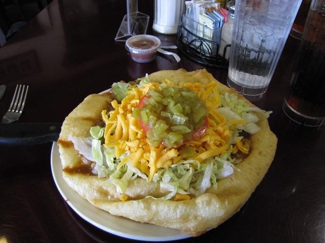 A Navajo taco.