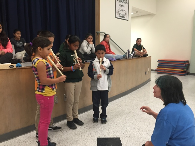 Students at Huntington Park were inspired to play instruments last school year. Some were able to rent instruments and practice after school.