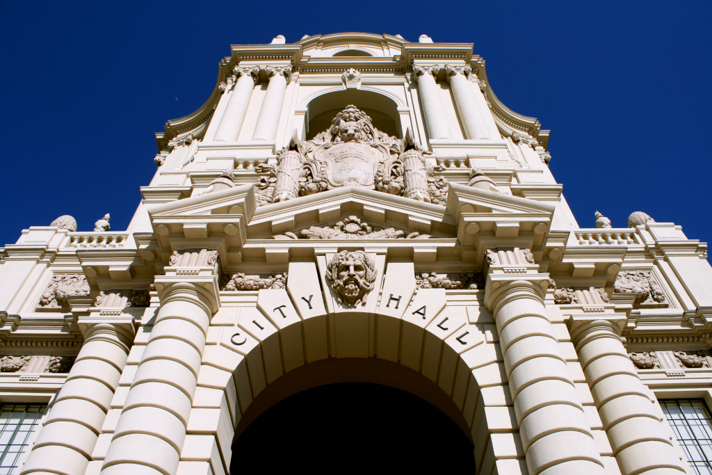 File: Pasadena City Hall on April 6, 2009.