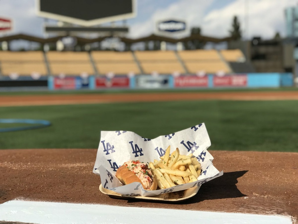 Lobster roll that will be served as one of Dodger Stadium's #WorldSeriesSpecials
