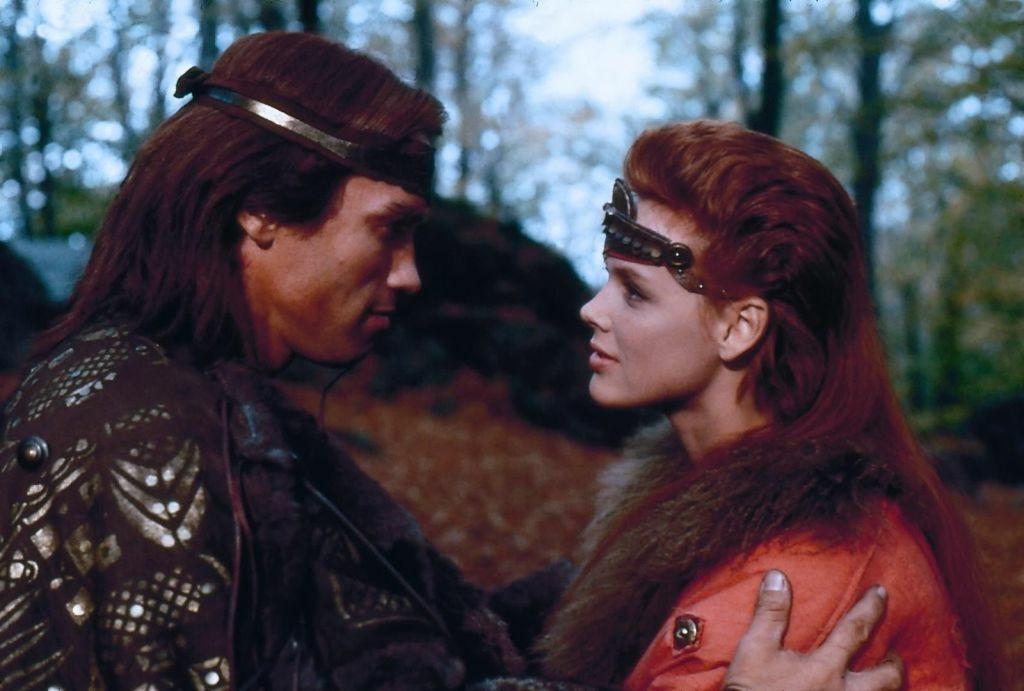 Arnold Schwarzenegger and Brigitte Nielsen in