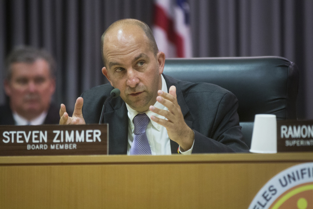 FILE: Los Angeles Unified Board President Steve Zimmer and other members of the board approved a list of traits that it wants in the next district superintendent.