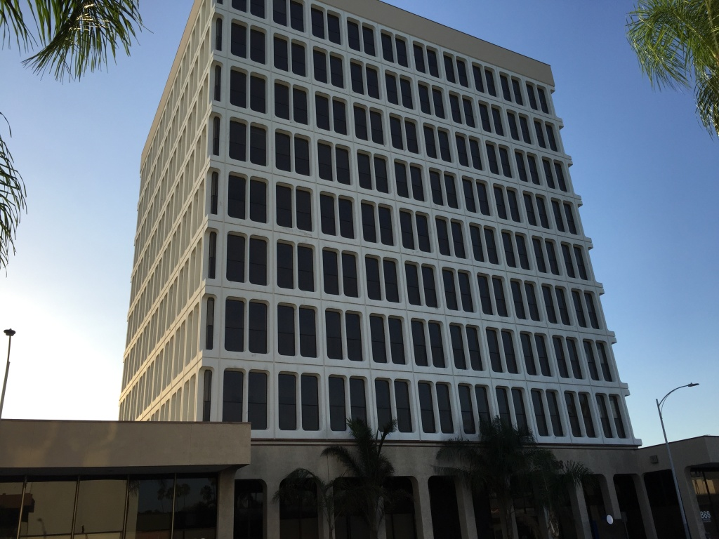 Santa Ana city leaders would like to see outdated, underutilized office towers like this one located at 888 N. Main St. converted into apartment or condo complexes to bring more residents into the downtown area and provide housing stock. The city's adaptive reuse ordinance provides incentives for developers to carry out these types of conversions.