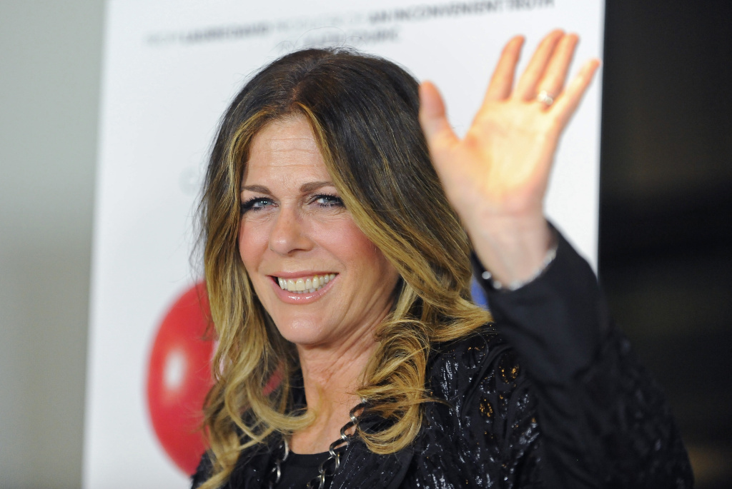 Actress Rita Wilson arrives at the premiere of the documentary