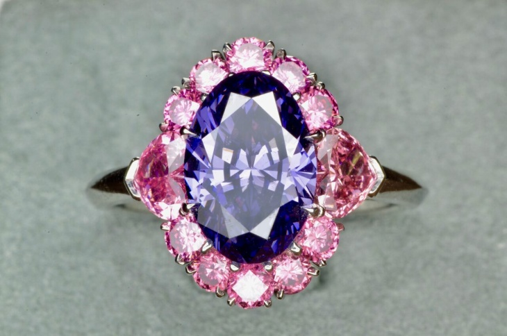 Juliet Pink Diamond on display as part of the