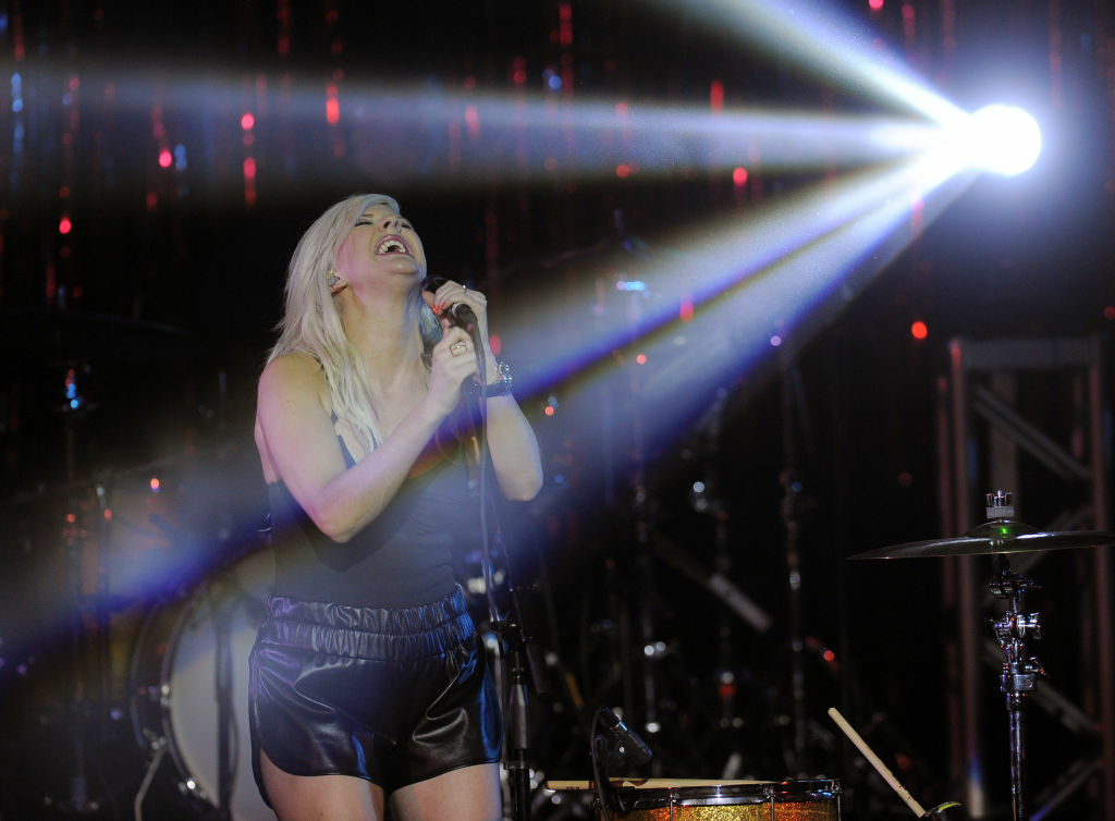 British singer Ellie Goulding performs at the third annual ELLE Women in Music event, Wednesday, April 11, 2012, in Los Angeles.