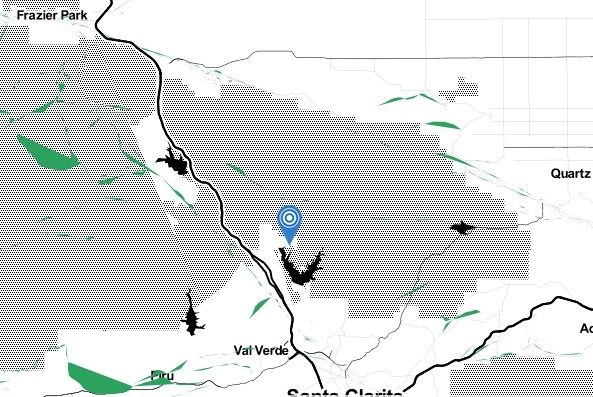 The location of the epicenter of an earthquake Saturday morning, March 15, 2014.