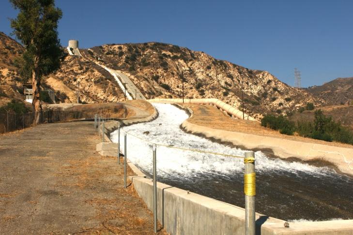 Los Angeles Aqueduct Terminus Cascades in Sylmar.