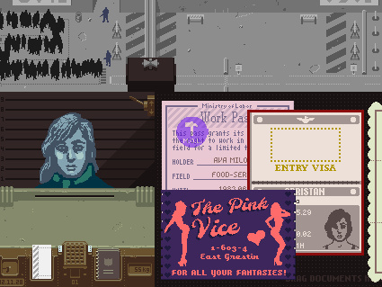 Papers, Please casts you as an immigration inspector whose goal is to keep those who don't belong out of the fictional nation of Arstotzka.