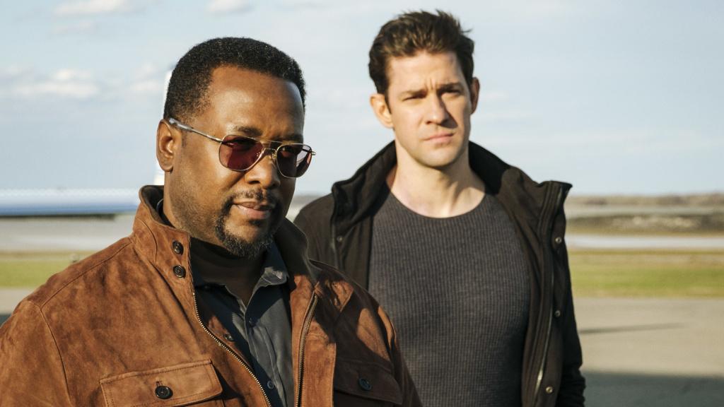 Wendell Pierce and John Krasinski in <em>Tom Clancy's Jack Ryan</em>.
