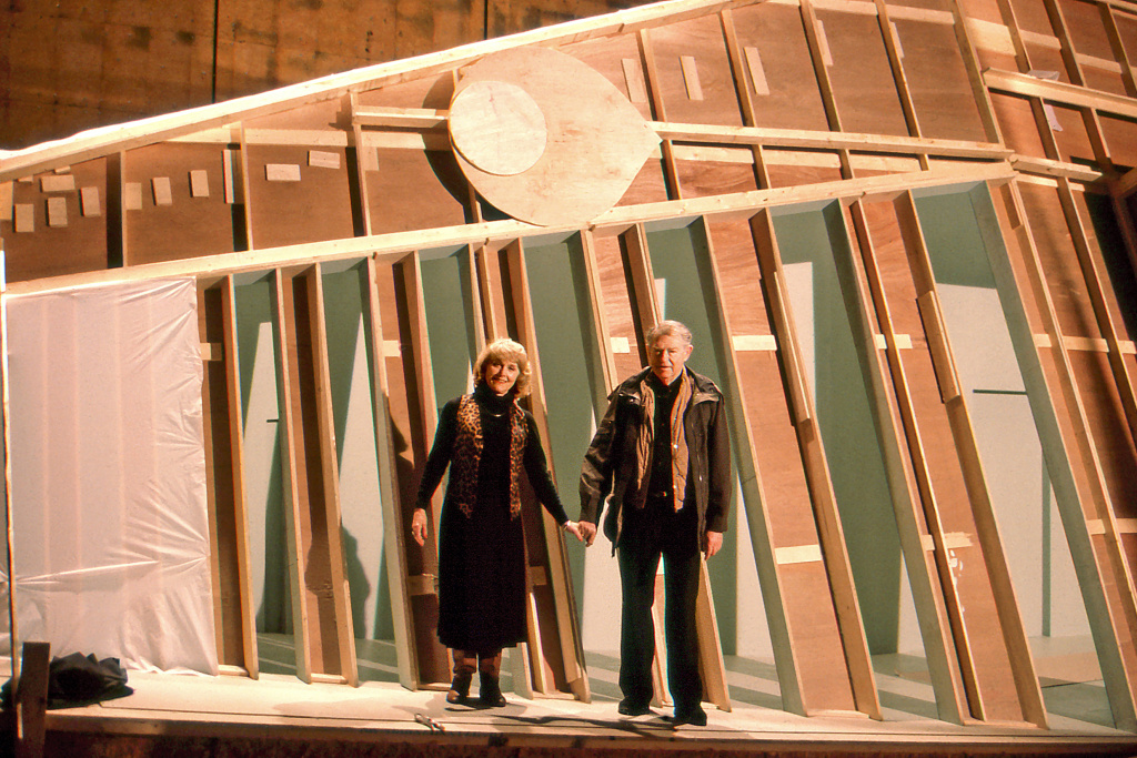 Lillian and Harold Michelson in Toronto in November 1994, on the set of Mary Rydell's