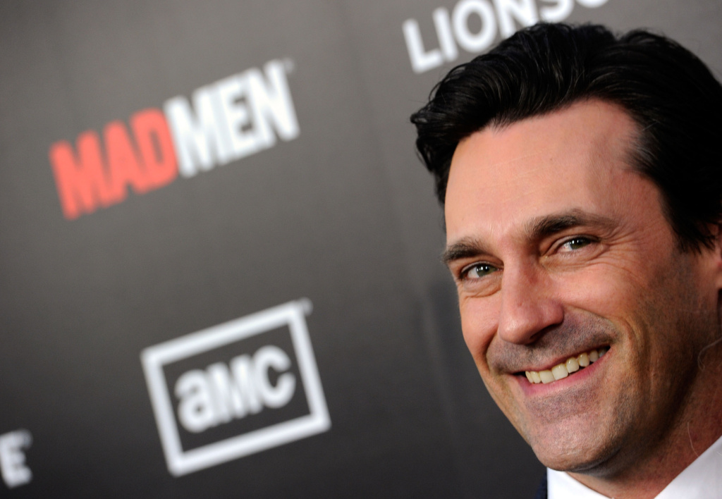 Actor Jon Hamm arrives at the Premiere of AMC's