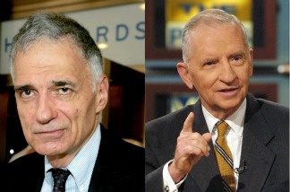 Third party politcians Ralph Nader and Ross Perot