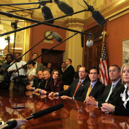 House Speaker Boehner And GOP Leaders Discuss Payroll Cut Extension