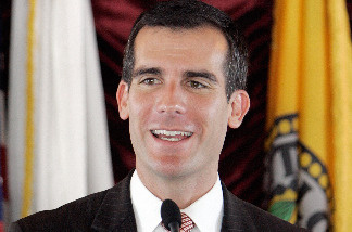 Los Angeles City Council President Eric Garcetti delivers a speech during a press conference to launch a new Muslim-Jewish Partnership Program in Los Angeles on March 8, 2007.