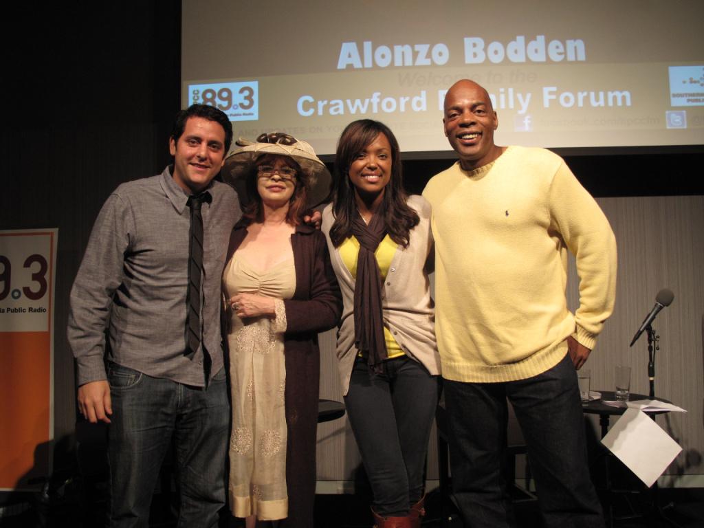 Ben Gleib, Patt Morrison, Aisha Tyler, and Alonzo Bodden