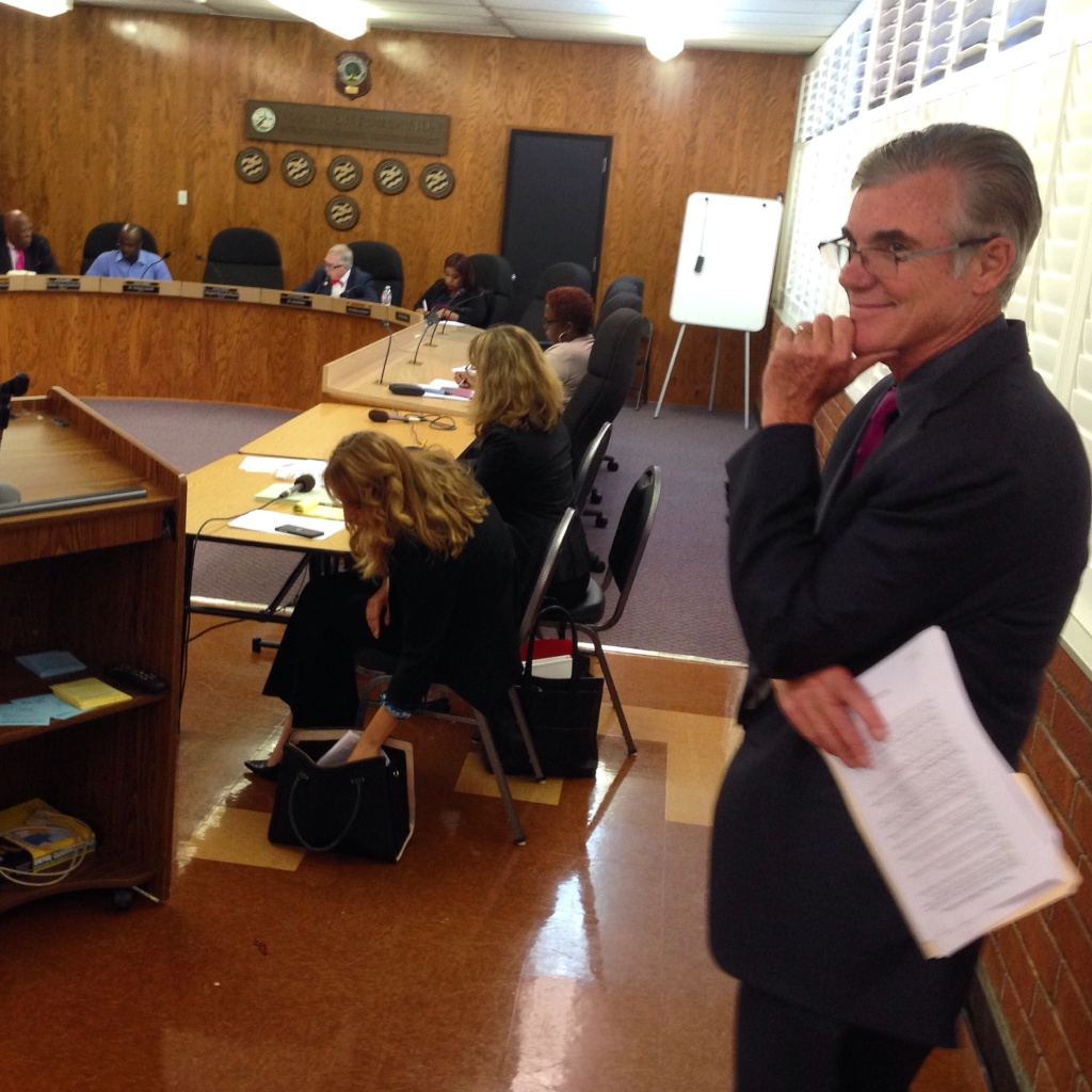 State Superintendent of Schools Tom Torlakson attends the first meeting of an oversight committee that will act as watchdog over $90 million in school improvement bonds.