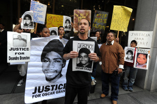 Protesters rally for Oscar Grant