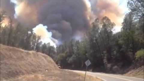 Massive smoke plume rises from wildfire in Happy Valley.