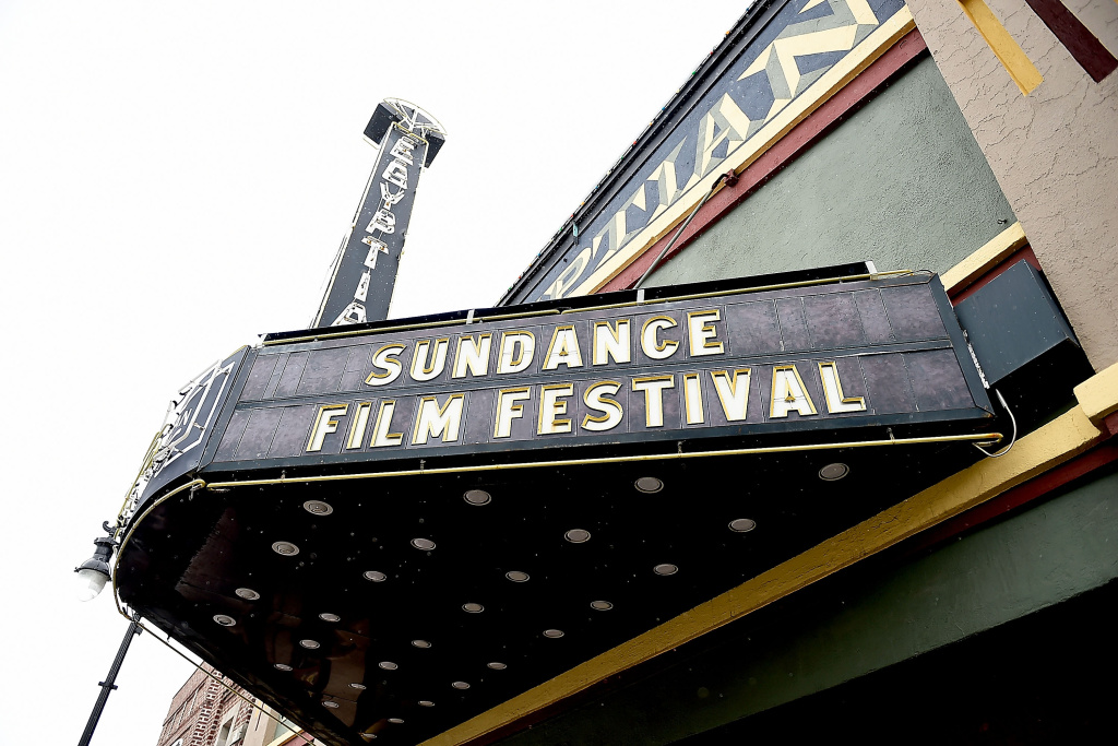 A general view the Egyptian Theater at the 2017 Sundance Film Festival on January 19, 2017 in Park City, Utah.