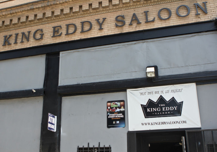 The King Eddy in Downtown Los Angeles. The Saloon will go under renovations after the summer of this year.