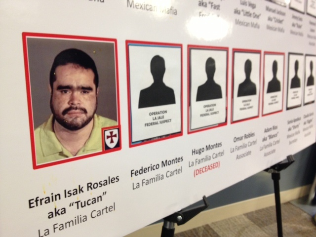 Efrain Isak Rosales is named in a federal indictment accused with having direct links to the